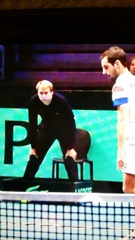 Julien à la Coupe Davis