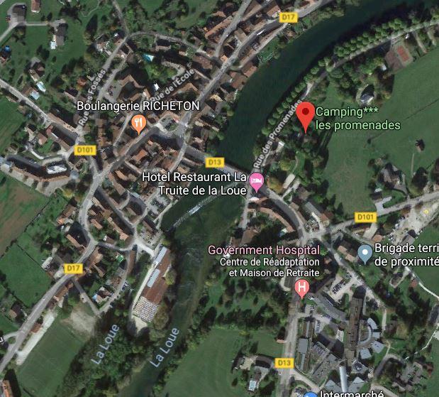 Carte terrains de Quingey
